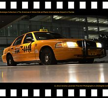 Nostalgia Collection • The Americas • Yellow Cab at Miami International Airport in Florida by 242Digital