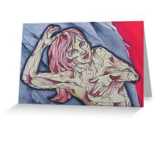 Nude Pose Female Greeting Card