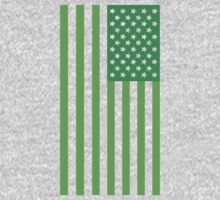 Star Spangled Banner - Dark Green/Green by paperboyjim