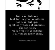 Audrey Hepburn quote and illustration  by bceren