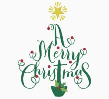 FESTIVE CHRISTMAS T-SHIRT :: christmas tree type by Kat Massard