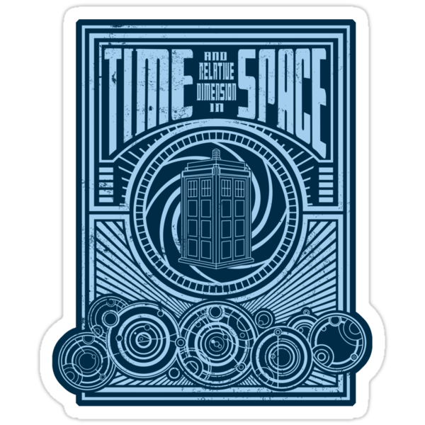 Time and Space sticker by buzatron