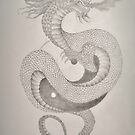 Ying Yang Dragon  by Ami  Wilber-Mosher