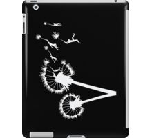 Dandylion Flight - white silhouette iPad Case/Skin