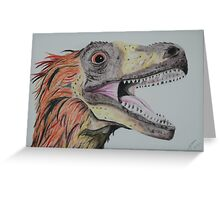 Feathered Dinosaur Greeting Card