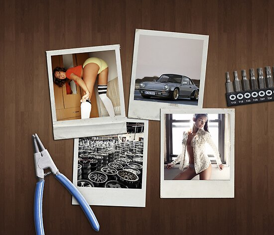 OCTOBER - Garage Dreams  - cars & girls by Benjamin Whealing