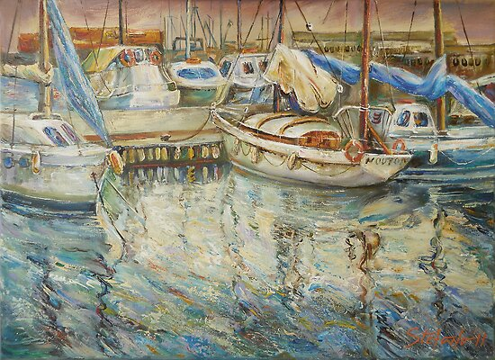 Castellon, Boats at Dusk by Stefano Popovski