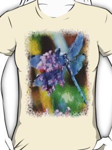 Blue Dragonfly on Wild Garlic T-Shirt