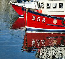 Harbour Reds ~ Lyme Regis by Susie Peek