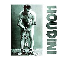 Harry Houdini in Chains Photographic Print