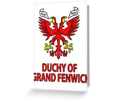Duchy of Grand Fenwick - Coat of Arms Greeting Card
