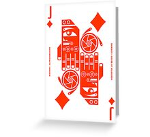 Mammon Jack of Diamonds Greeting Card