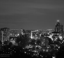 Black & White Leeds At Night by andyj81
