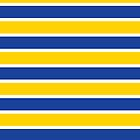 Blue and Yellow French Sailor Stripes by Carol-Anne Ryce-Paul