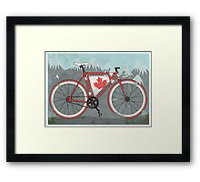 Love Bike, Love Canada Framed Print