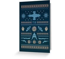 Shiny Sweater Greeting Card