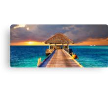 Maldives Sunset  Canvas Print