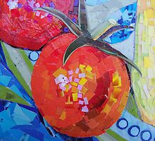 Garden Harvest Collage Detail by MSRowe Art and Design