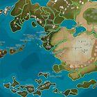 Avatar the Last Airbender Avatar World Map by AvatarYangchen