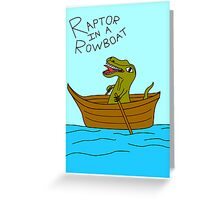 Raptor In A Rowboat Greeting Card