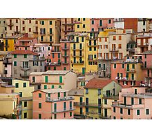 Manarola Houses Photographic Print