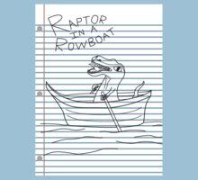Looseleaf Raptor In A Rowboat by Turlguy