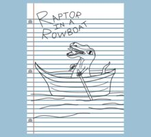 Looseleaf Raptor In A Rowboat by Turlguy