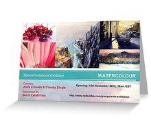 Special Watercolor Exhibition - December 2012 Greeting Card