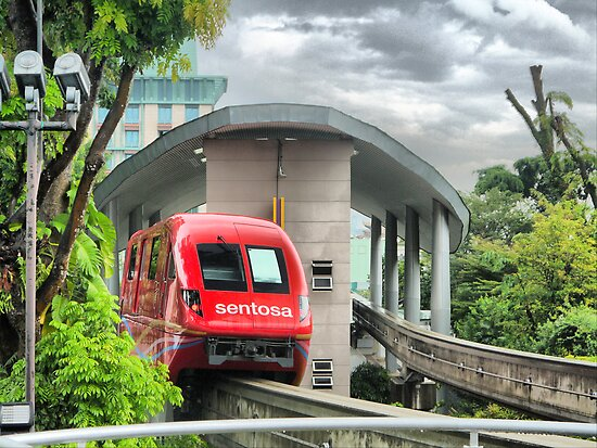 The Monorail in Red by Larry Lingard-Davis