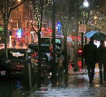December Night on Fillmore Street by David Denny