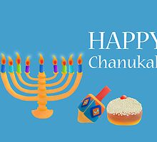 Chanukah Greeting Card by curlyorli
