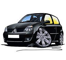 RenaultSport Clio 182 Black Photographic Print