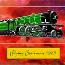 Steam Locomotive - The Flying Scotsman 1923 by Dennis Melling