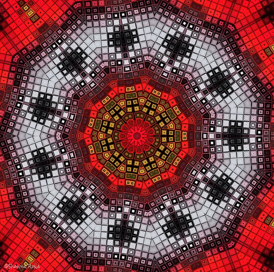 Mosaic Kaleidoscope 2 by MSRowe Art and Design
