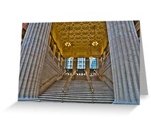Union Station Steps - Chicago Greeting Card