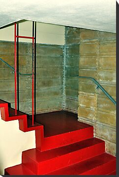 Frank Lloyd Wright Designed Stairway, Florida Southern College, Lakeland, Florida by fauselr