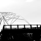 B&W Pedestrian Bridge by Jake Kauffman