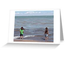 Getting Their Feet Wet Greeting Card