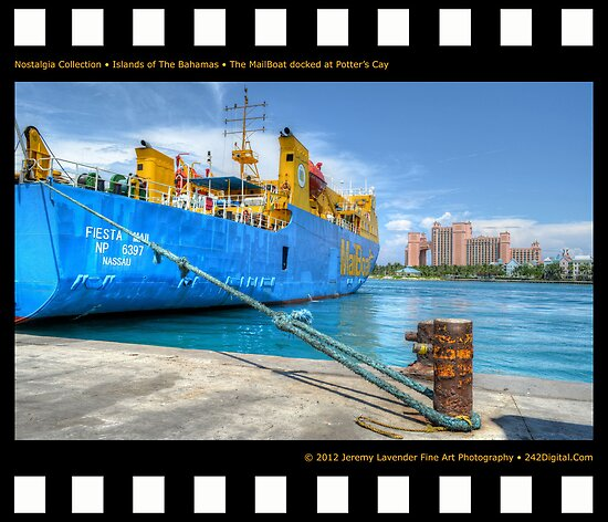 Nostalgia Collection • Islands of The Bahamas • MailBoat Ferry docked at Potter's Cay by 242Digital