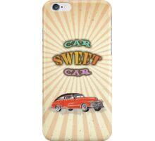 Retro Vintage Style : Car Sweet Car iPhone Case/Skin