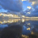 Devon: Evening Reflections at Saunton Sands by Rob Parsons