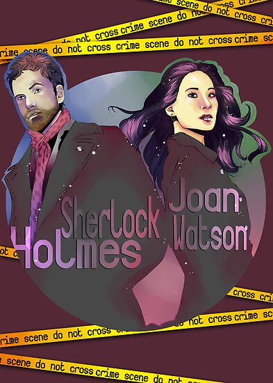 Joan and Sherlock by KanaHyde