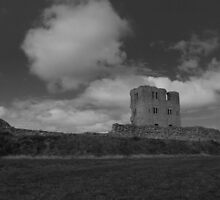 Scarborough Castle B&W by Cth2373