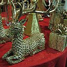 Golden Glitter Reindeer by Jane Neill-Hancock