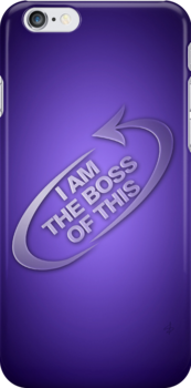 I am the boss of this - swirl arrow by MsSLeboeuf