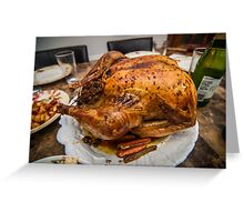 thanksgiving turkey dinner Greeting Card