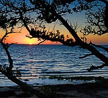 Sun Sets On Pamlico Sound by Eric Albright Photography