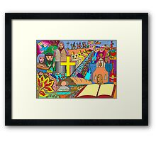 Choose your own adventure story Framed Print