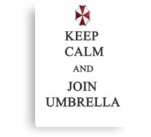 Keep Calm and Join Umbrella Canvas Print