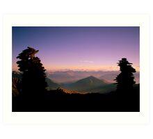 The Cairns of den Alpen Art Print